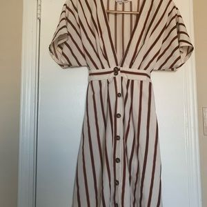 Charlotte Russe striped button down dress